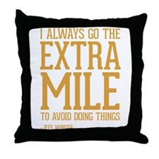 Community TV Extra Mile Throw Pillow