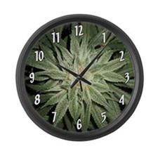 Cannabis Plant Large Wall Clock