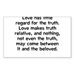 Love/Truth Rectangle Sticker