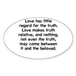 Love/Truth Oval Sticker