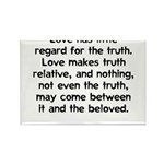 Love/Truth Rectangle Magnet (10 pack)