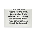 Love/Truth Rectangle Magnet
