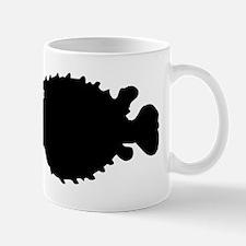Puffer Fish Silhouette Mugs
