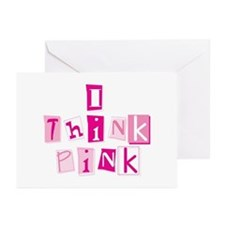 I Think Pink -Stacked Greeting Cards (Pk of 10