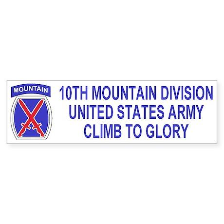 10th Mountain Division<BR>Bumper Sticker 1