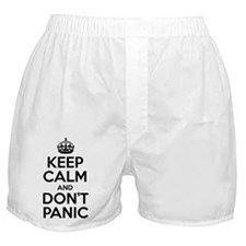 Keep Calm And Don't Panic Boxer Shorts