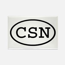 CSN Oval Rectangle Magnet