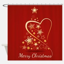 Starry Christmas Tree Shower Curtain