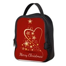 Starry Christmas Tree Neoprene Lunch Bag