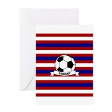 Soccer Ball RWB Greeting Card