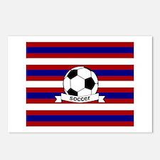 Soccer Ball RWB Postcards (Package of 8)