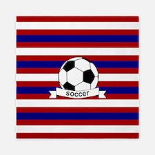 Soccer Ball RWB Queen Duvet