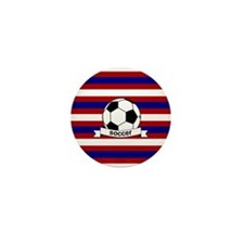 Soccer Ball RWB Mini Button