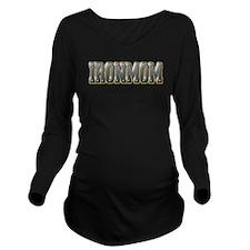IronMom Ironman Metal Text Long Sleeve Maternity T