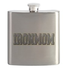 IronMom Ironman Metal Text Flask