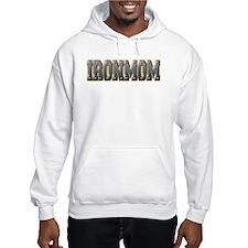 IronMom Ironman Metal Text Hoodie