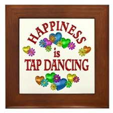Happiness is Tap Dancing Framed Tile