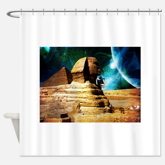 2-Sphinx78.jpg Shower Curtain