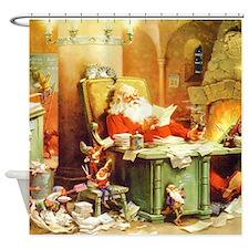 Santa Claus at the North Pole Shower Curtain