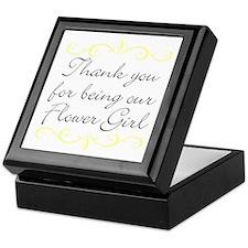 Flower Girl gift Keepsake Box