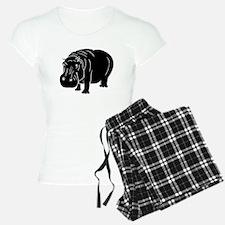 Hippopotamus Silhouette Pajamas