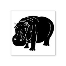 Hippopotamus Silhouette Sticker