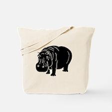 Hippopotamus Silhouette Tote Bag