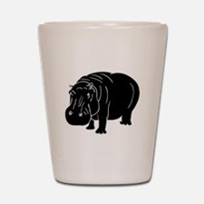 Hippopotamus Silhouette Shot Glass