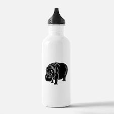 Hippopotamus Silhouette Water Bottle