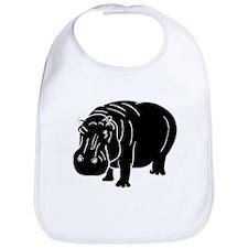Hippopotamus Silhouette Bib