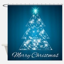 Sparkly Christmas Tree Shower Curtain