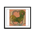 Polish Rooster Framed Panel Print