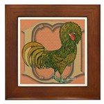 Polish Rooster Framed Tile