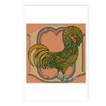 Polish Rooster Postcards (Package of 8)