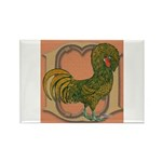 Polish Rooster Rectangle Magnet (10 pack)