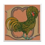 Polish Rooster Tile Coaster