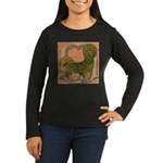 Polish Rooster Women's Long Sleeve Dark T-Shirt