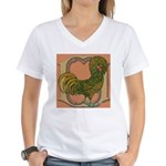 Polish Rooster Women's V-Neck T-Shirt