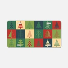 Christmas Tree Patches Aluminum License Plate