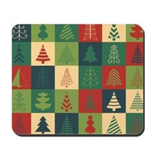 Christmas Tree Patches Mousepad