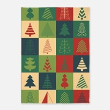 Christmas Tree Patches 5'x7'Area Rug