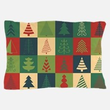 Christmas Tree Patches Pillow Case