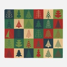 Christmas Tree Patches Throw Blanket