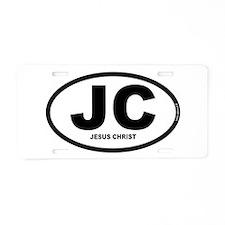 JC - Jesus Christ Aluminum License Plate