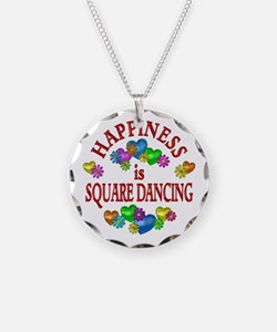 Happiness is Square Dancing Necklace