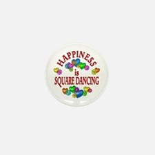 Happiness is Square Dancing Mini Button (10 pack)
