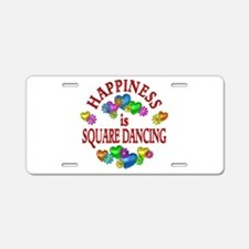 Happiness is Square Dancing Aluminum License Plate