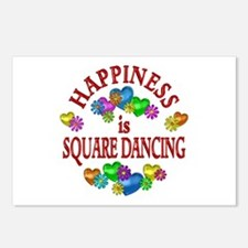 Happiness is Square Danci Postcards (Package of 8)