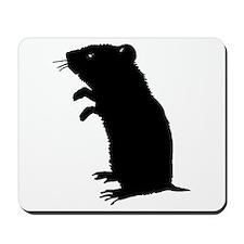 Gerbil Silhouette Mousepad