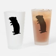 Gerbil Silhouette Drinking Glass